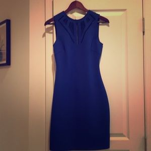 Royal blue sheath dress